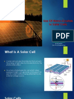 Use of Nanocrystals in  Solar Cells