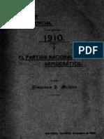 La Sucesion Presidencial 1910