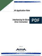 Interleaving for Burst Error Correction