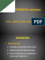 Incontinencia Urimaria