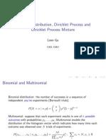 Dirichlet Distribution, Dirichlet Process and Dirichlet Process Mixture