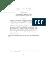 Hyperparameter Estimation in Dirichlet Process Mixture Models