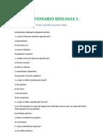 CUESTIONARIO BIOLOGIA 1