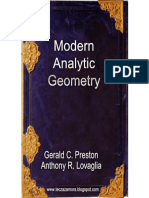 Modern Analytic Geometry