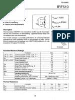 datasheet IRF510