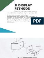 3-d Display Methods