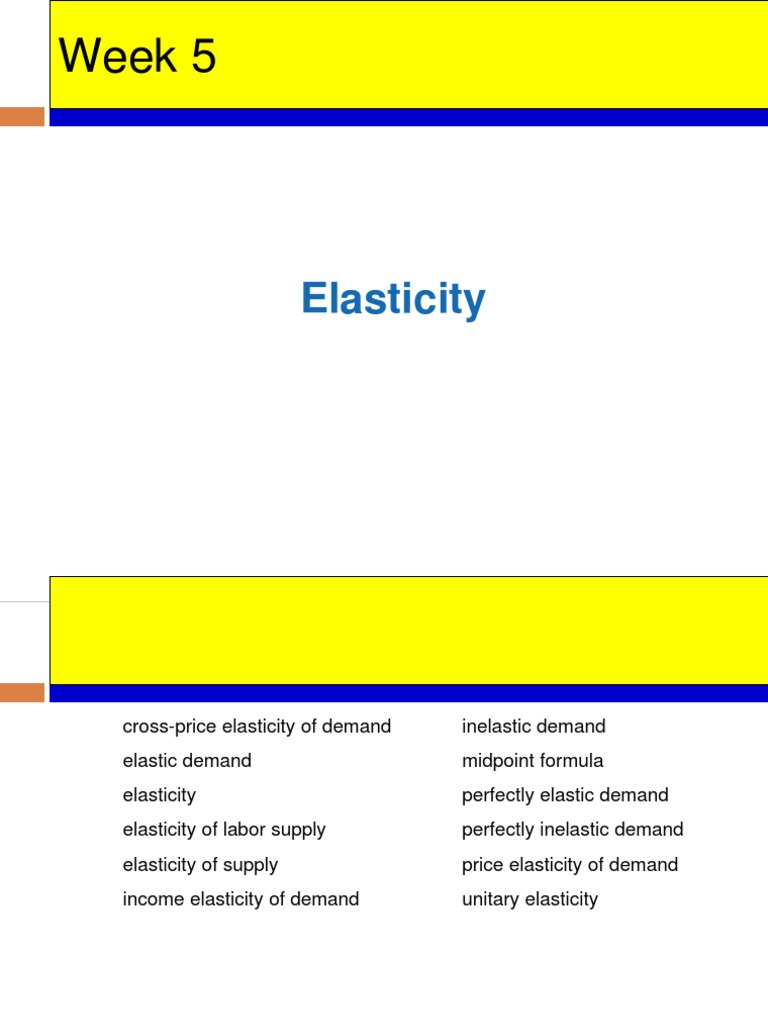 Lecture 5 Elasticity Ppt Price Elasticity Of Demand Demand