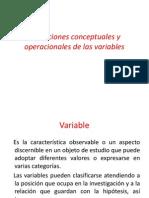 Definiciones Conceptuales y Operacionales de Las Variables