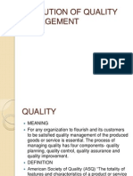 Cost and Quality Management