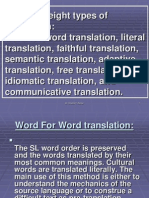 Methods of Translation
