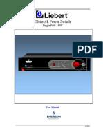 Liebert NPS - 50Hz - Users Manual