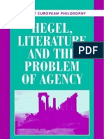 Hegel, Literature, And the Problem of Agency (Modern European Philosophy)