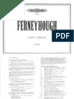 Ferneyhough Brian - Unity Capsule (Full Score)