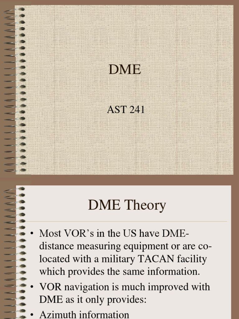 Dme | Measuring Instrument | Telecommunications Engineering