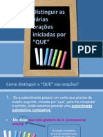 Distinguir-os-que as Orações.ppt