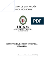 PROGRESIÓN DE UNA ACCIÓN TÉCNICA INDIVIDUAL