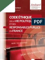 Code éthique de la vie politique et des responsables publics en France