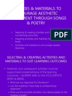 Activities & Materials to Encourage Aesthetic Development Through Songs And Poetry