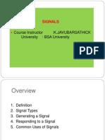 Signals UNIX(1!2!13)