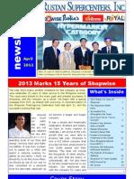 Newsletter 1 April 2013