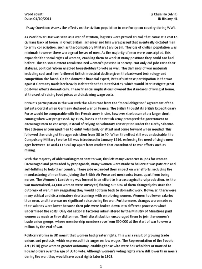 Ww1 Essay Questions how to write a conclusion for an essay