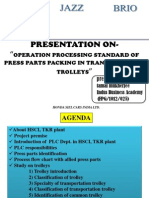 Presentation on OPS of press parts packing of transportation trolleys