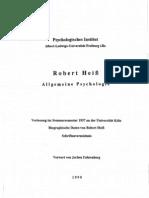 Robert Heiss Vorl. Allgemeine Psychologie-1937