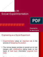 engineering as social experimentation Facebook's first public comment on the experiments came as the social network attempted to woo indian advertisers as part of its efforts to tailor adverts to users.