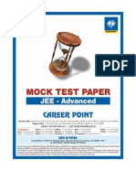 IIT Advance Paper 1 MockTest 2013