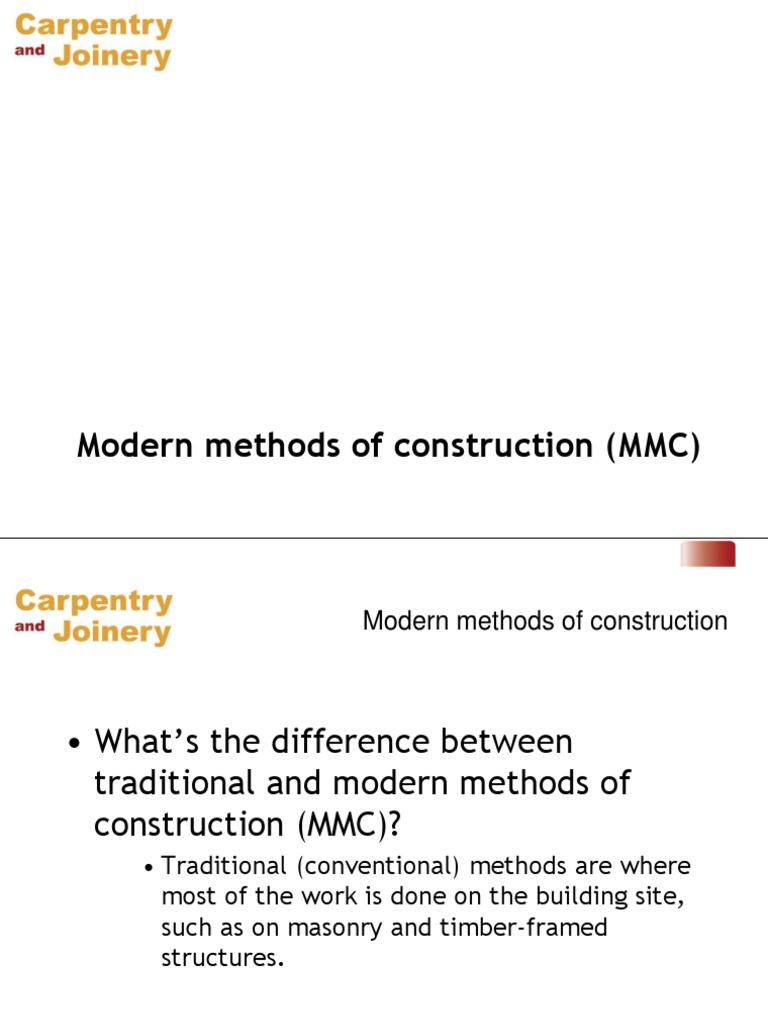 Modern Methods of Construction | Concrete | Masonry