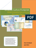 Aviation Carbon Footprint - Global Scheduled International Passenger Flights 2012