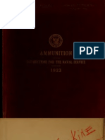 Ammunition-Instructions for the naval service, OP 4- 1923