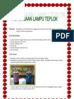 LAPORAN HASIL PENGAMATAN LAMPU TEPLOK, GROUP IV ALA GEXIDA SMAN 2 PALANGKARAYA