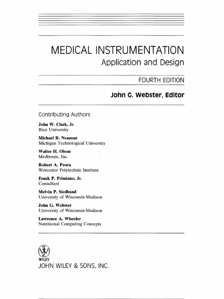 medical instrumentation application and design fourth edition Wiring Pigtails for Automotive medical instrumentation webster lifier electrical engineering