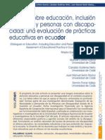 Conversaciomnes Acerca de La Inclusion en El Ecuador