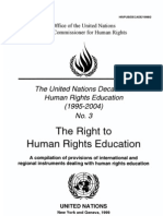 The Rights to Hunan Rights Education - UN