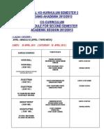 Jadual Kokurikulum 20-21 April 2013