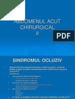 Semiologie Chirirgicala - Abdomenul Acut Chirurgical II