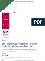 __ Las competencias profesionales, la nueva tendencia en la búsqueda de empleo __
