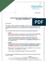 DCC NSC Grade 12 - External Exam Registration Doc 2013