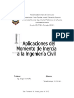Aplicacion de Momento de Inercia a Ing Civil