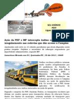 Ação da PRF e MP intercepta ônibus escolares usados irregularmente nas rodovias que dão acesso a Campina