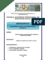 monografía DESARROLLO DE LA CREATIVIDAD INFANTIL
