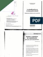 CANDIA, MARÍA RENÉE - LA PLANIFICACIÓN EN LA EDUCACIÓN INFANTIL - ORGANIZACIÓN DIDÁCTICA DE LA ENSEÑANZA - INTRODUCCIÓN