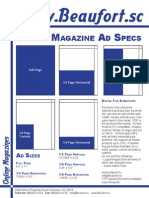 Beaufort Magazine Ad Specs