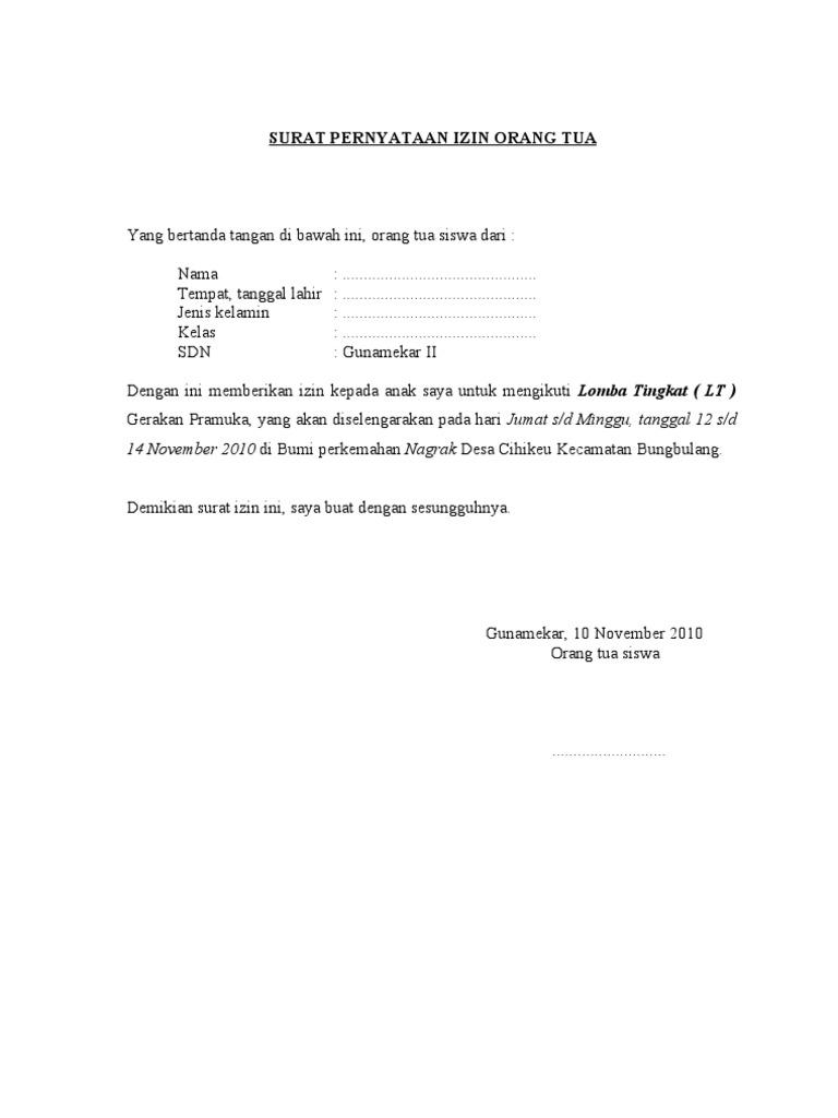 Surat Ijin Ortu