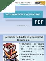 presentacion redundancia