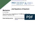 Proc. R. Soc. Lond. a-1925-Dirac-The Fundamental Equations of Quantum Mechanics