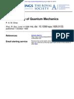 Proc. R. Soc. Lond. a-1926-Dirac- On the Theory of Quantum Mechanics