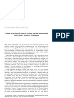Journal of Official Statistics Vol. 29 Special Issue on Systems and Architectures for High-Quality Statistics Production